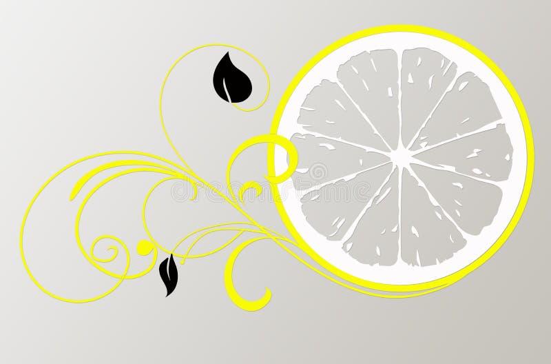 Citroenembleem voor schoonheidssalon royalty-vrije illustratie