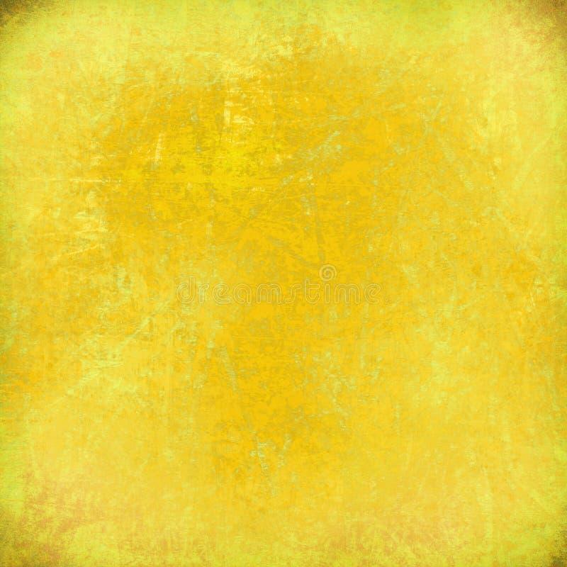 Citroengele grunge gekraste achtergrond stock illustratie
