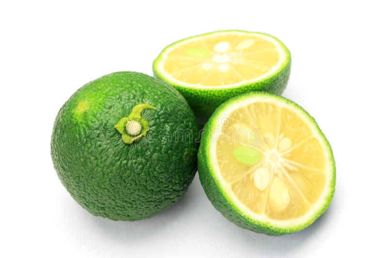 Citron. I cut citron and took it in a white background stock photography
