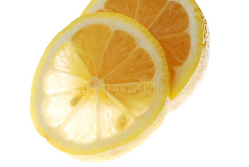 Citron. Slice of citron on light box stock photos