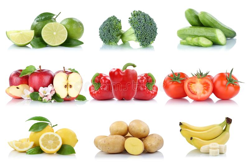 Citron b de tomates de pomme d'isolement par collection de fruits et légumes photos libres de droits
