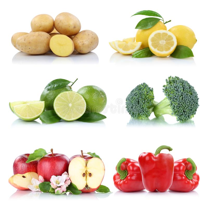 Citron c de pommes de terre de pomme de collection de fruits et légumes images stock