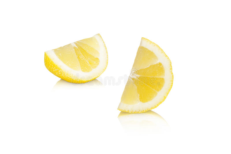 Citron citrus fruit slice. Lemon or citron citrus fruit slice on white background royalty free stock image