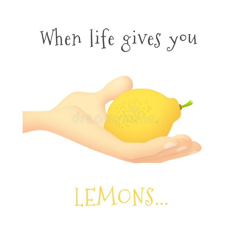 Citron de mains illustration de vecteur