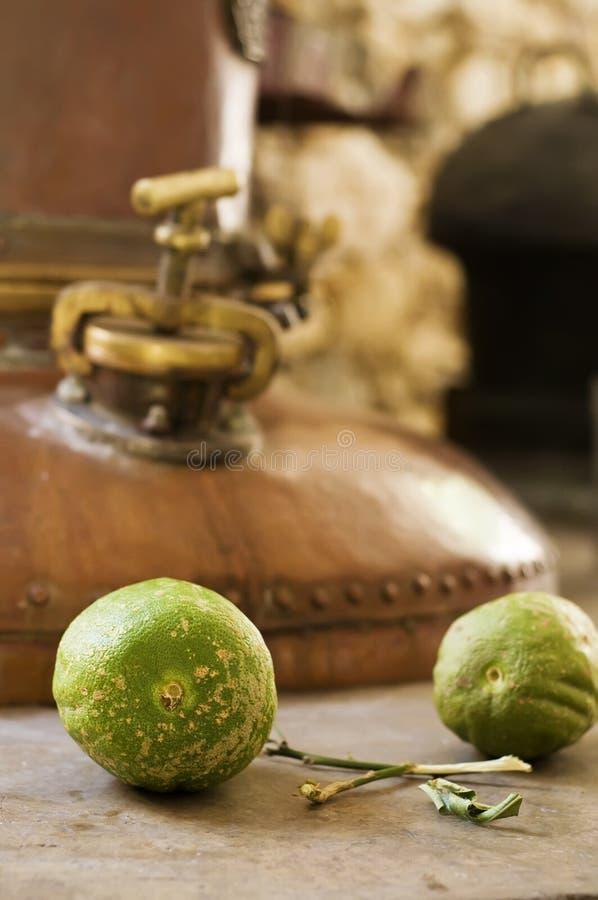 Citron Distillery. Citron, a famous Liquor in Naxos, Greece stock image
