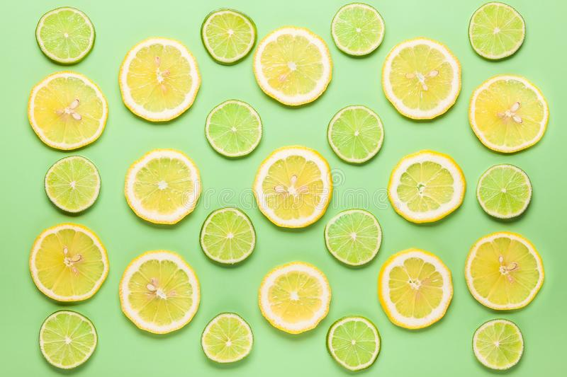 Citron et limette frais image libre de droits