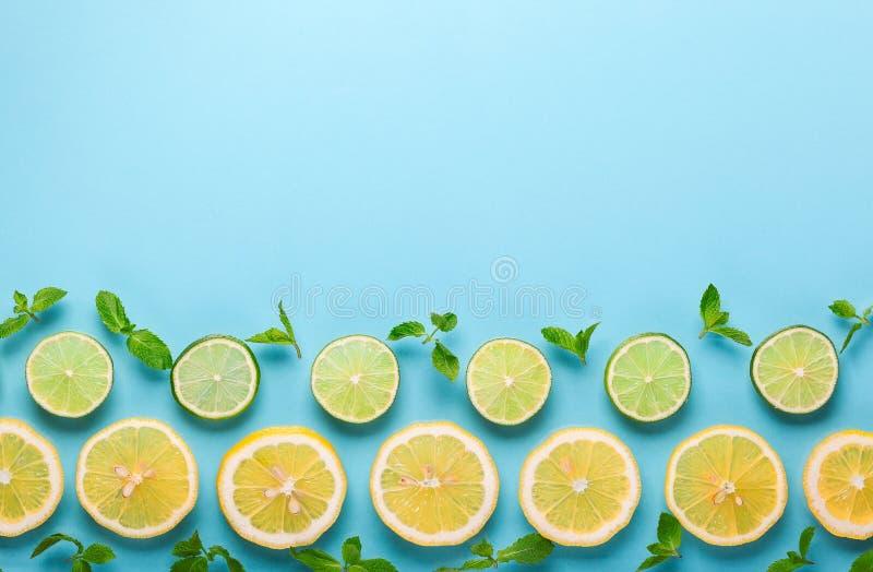 Citron et limette frais photo libre de droits