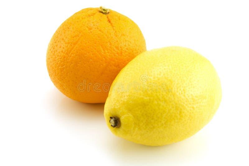 Citron et orange photos stock
