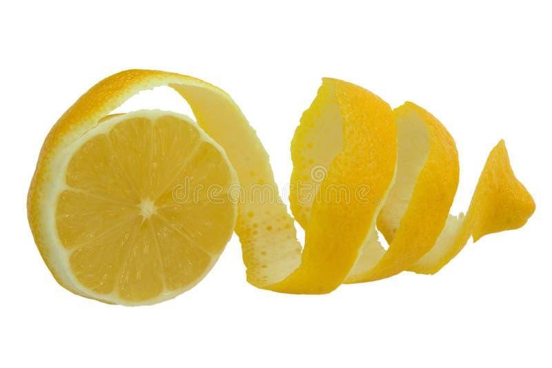 Citron of lemon. And section isolated on white background stock photo
