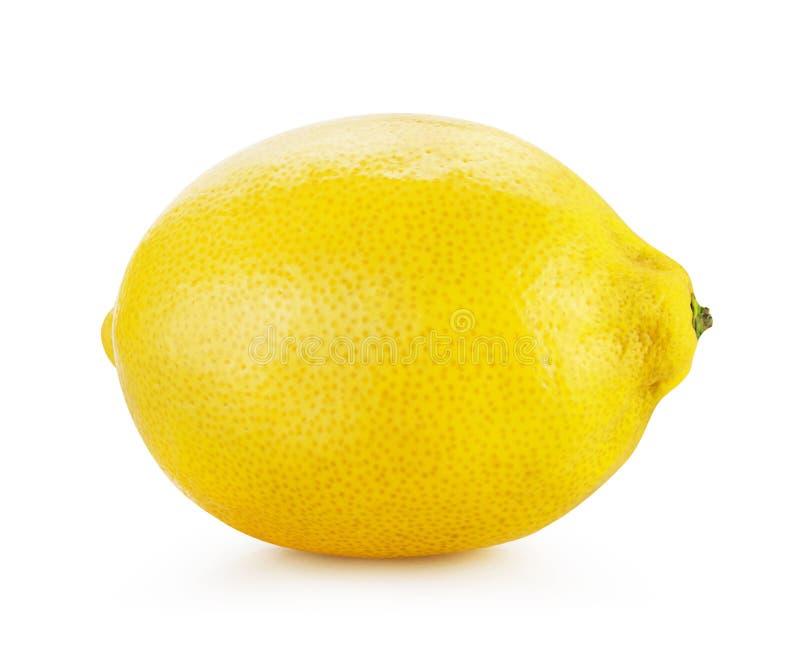 Citron mûr d'isolement photographie stock