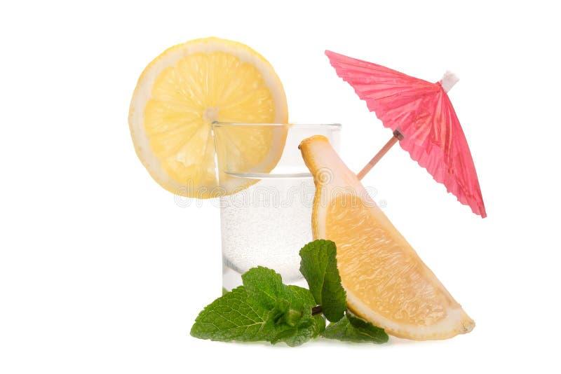 Citron, mintkaramell och tequila arkivfoto