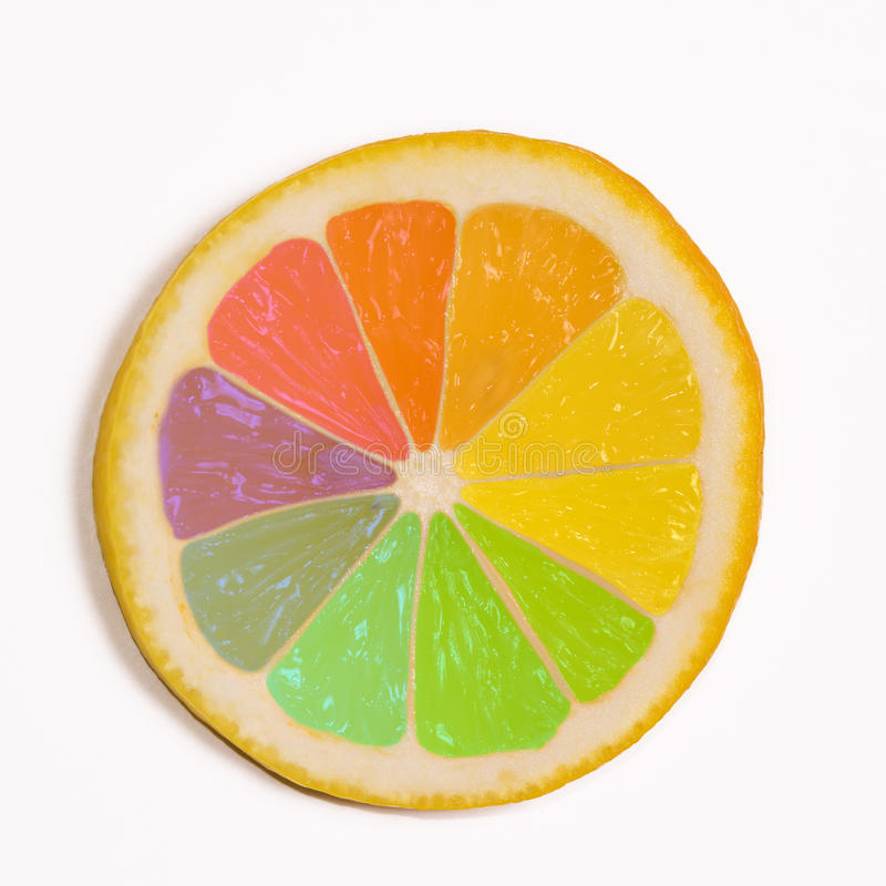 Citron multi de couleur images libres de droits