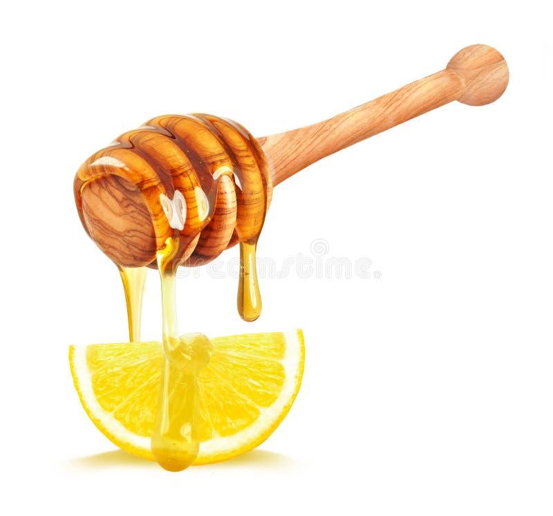 Citron och honung royaltyfri foto