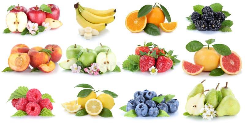 Citron orange frais i de banane-figue de pomme de collection de fruit de fruits image libre de droits