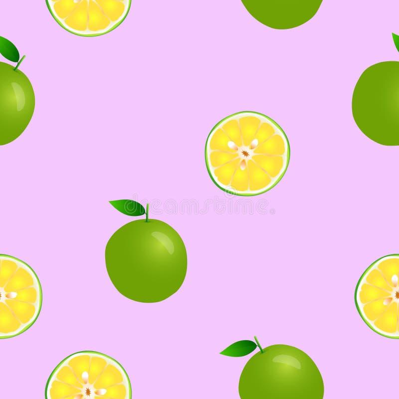 Citron plein et moitié sans couture illustration libre de droits