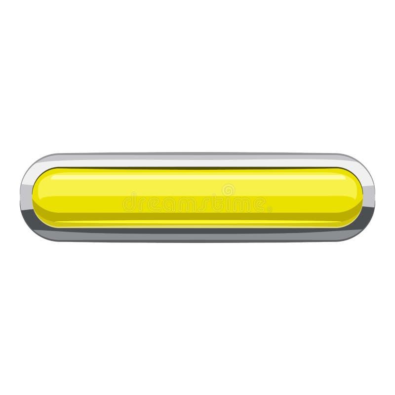 Citron rectangular button icon, cartoon style. Citron rectangular button icon. Cartoon illustration of rectangular button vector icon for web design vector illustration