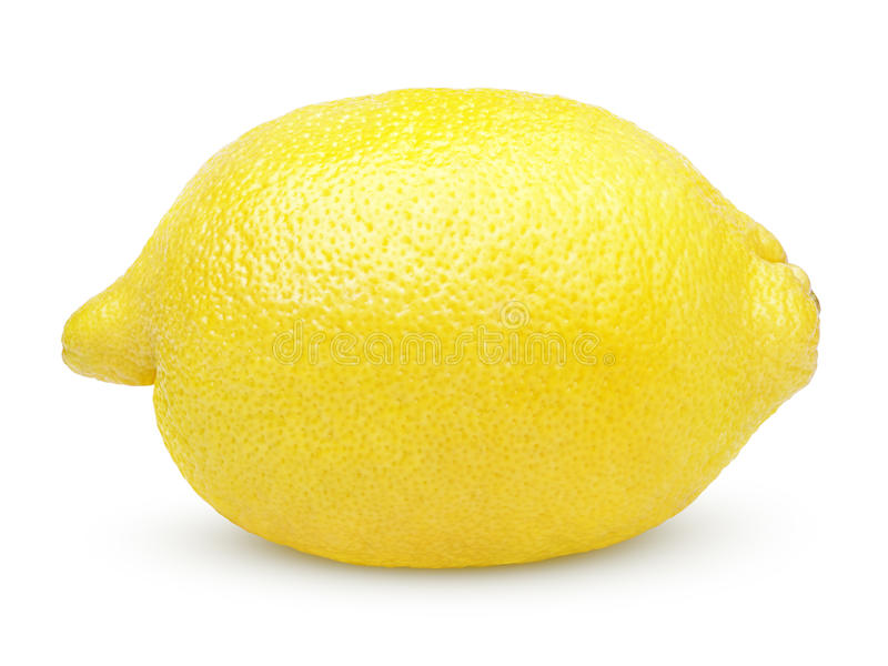 Citron simple sur le blanc photographie stock