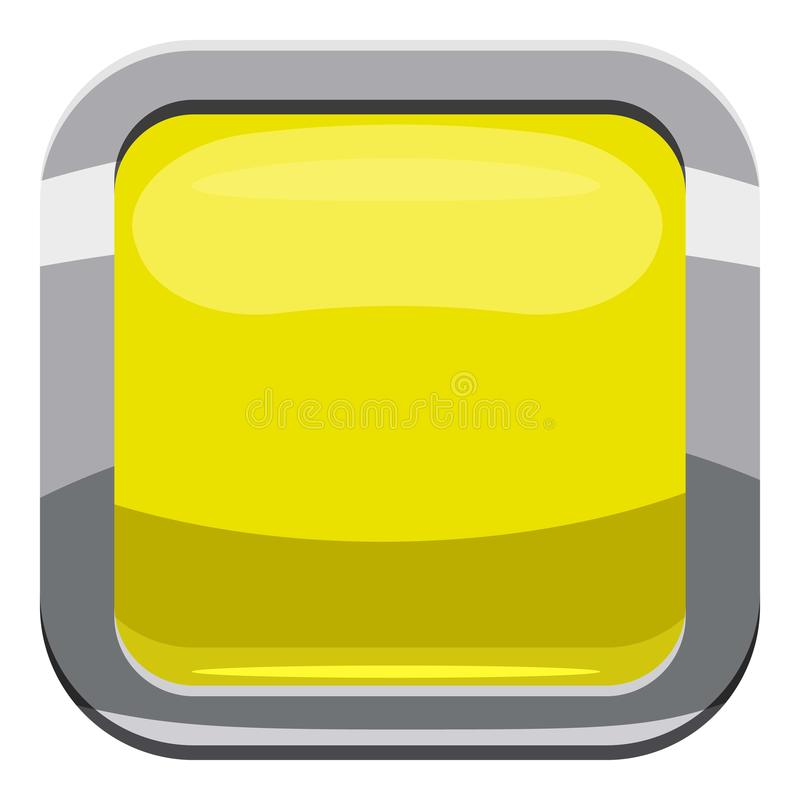 Citron square button icon, cartoon style. Citron square button icon. Cartoon illustration of square button vector icon for web design royalty free illustration