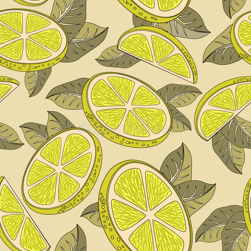 Citronbakgrund stock illustrationer