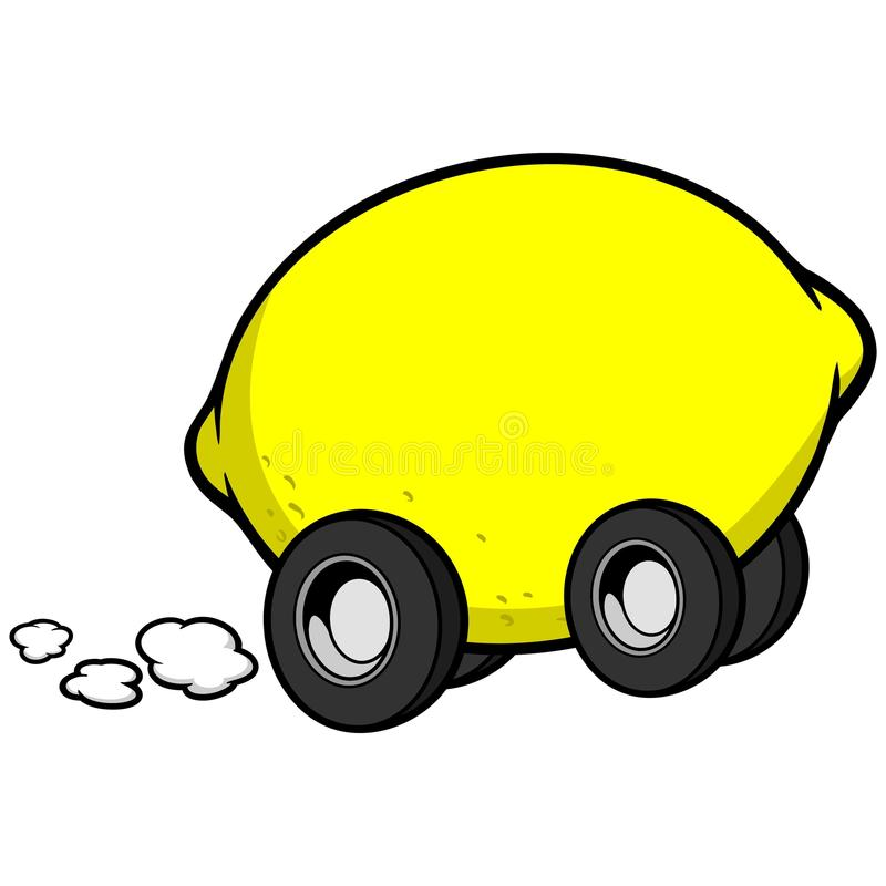 Citronbil stock illustrationer