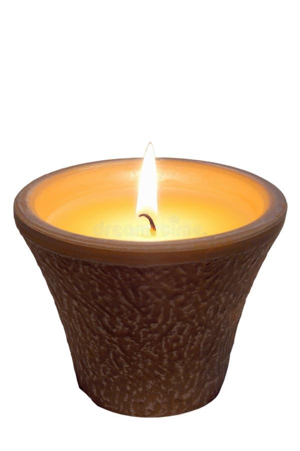 Citronela da vela imagem de stock