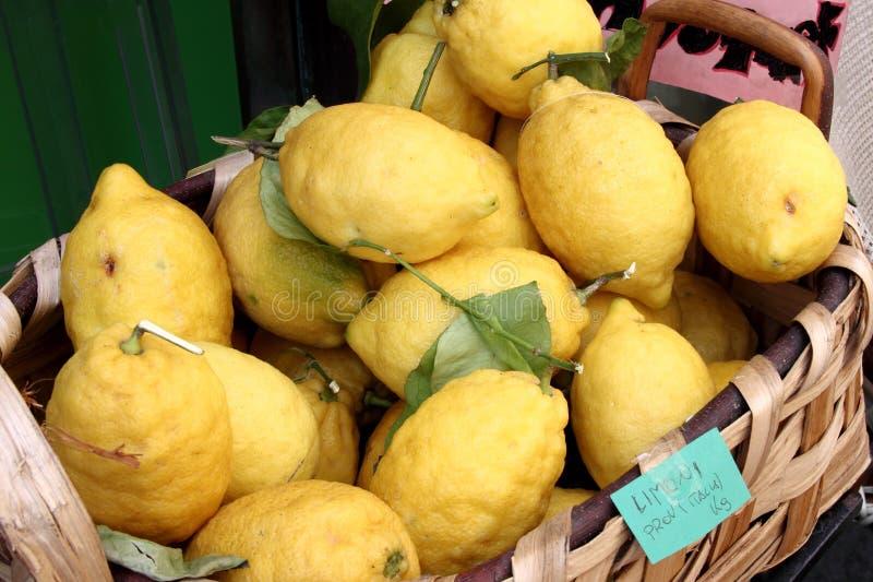 Citroner av Capri arkivbild