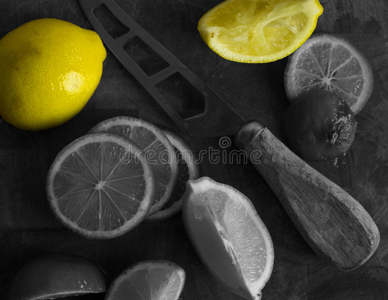 Citroner och limefrukter arkivfoton