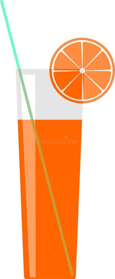citronexponeringsglasfruktsaft stock illustrationer