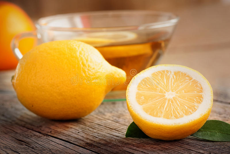Citronfrukttea royaltyfri bild