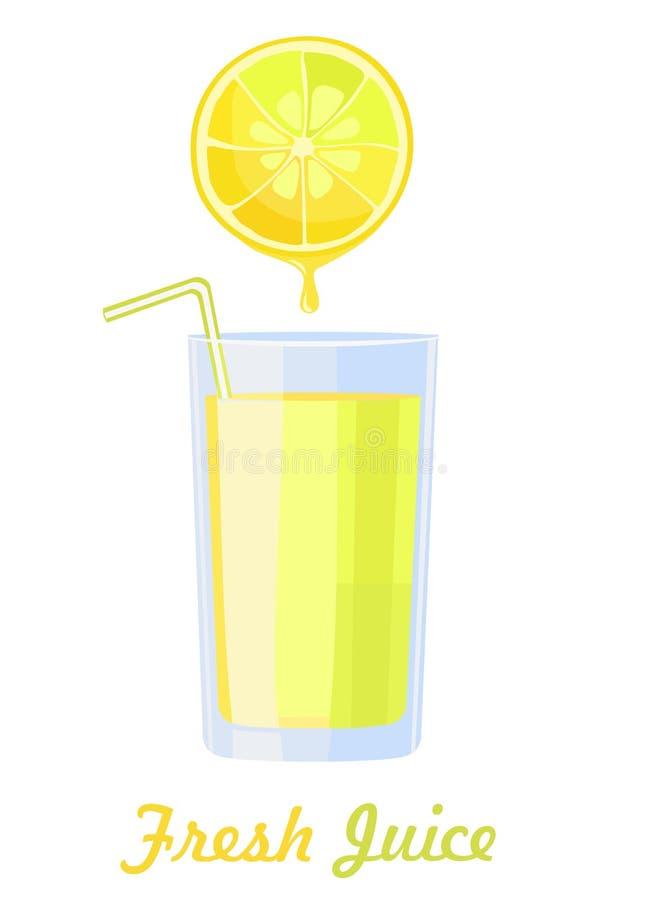 Citronjuice stock illustrationer