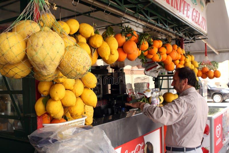 Citronjuicestånd fotografering för bildbyråer