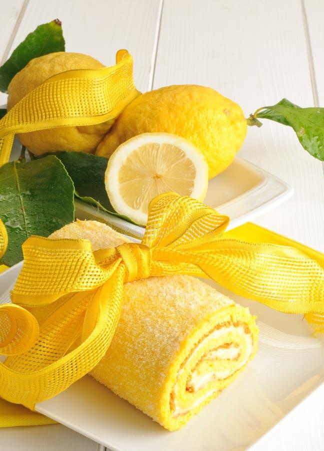 Citronkaka arkivfoton