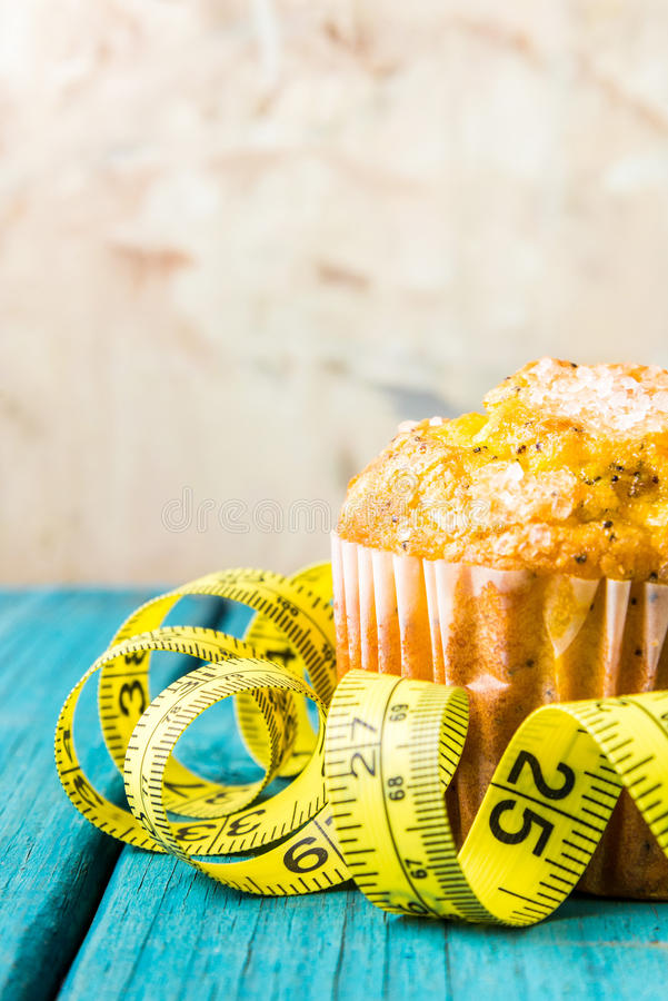 Citronmuffin royaltyfria bilder