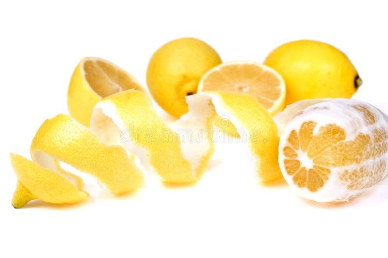 citronpeel royaltyfri bild