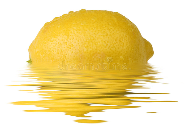 citronreflexion royaltyfri fotografi