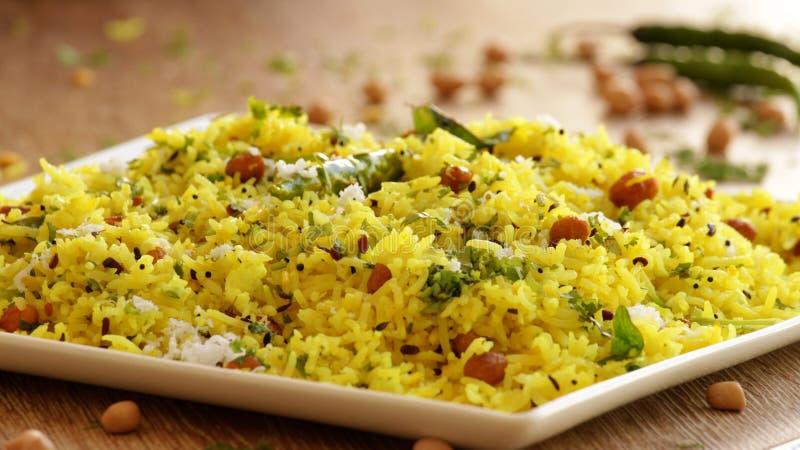 Citronris är en ris baserad maträtt från södra Indien royaltyfri fotografi