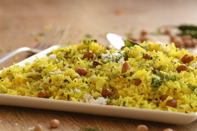 Citronris är en ris baserad maträtt från södra Indien royaltyfria bilder