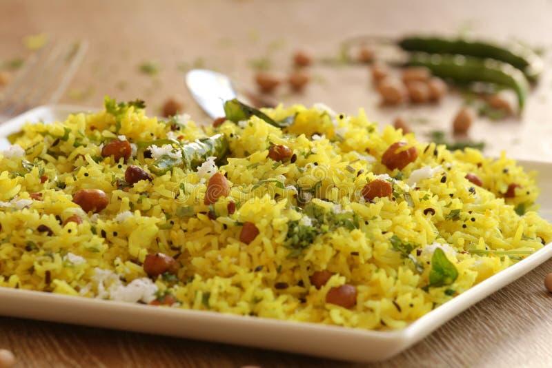 Citronris är en ris baserad maträtt från södra Indien royaltyfri foto