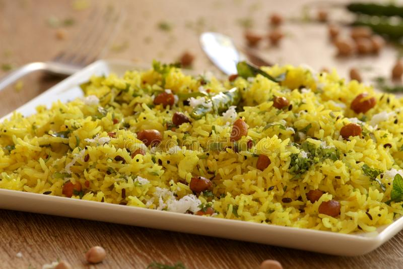 Citronris är en ris baserad maträtt från södra Indien fotografering för bildbyråer