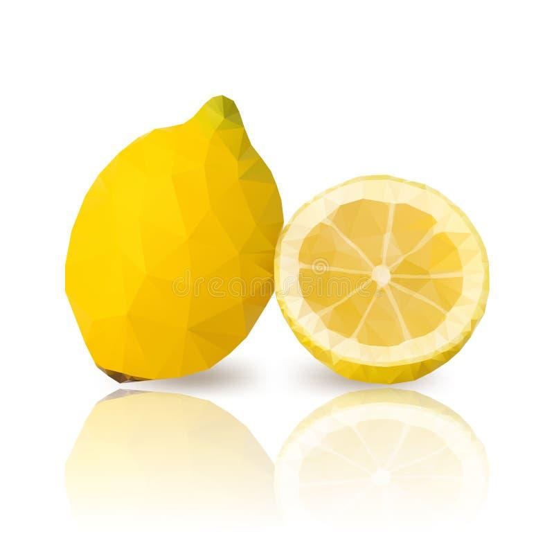 citrons avec la conception polygonale de vecteur illustration stock