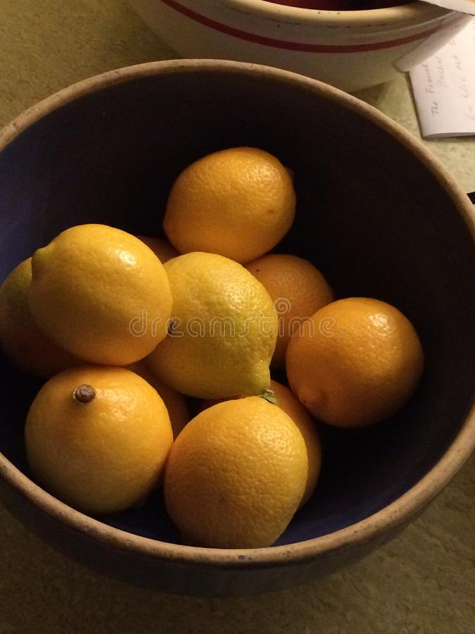Citrons en abondance photo stock