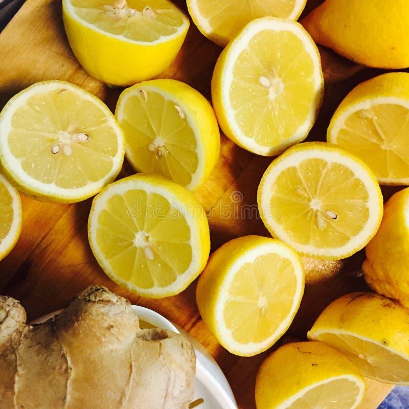 Citrons et gingembre photographie stock