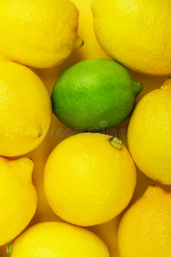 Citrons et limette photo stock