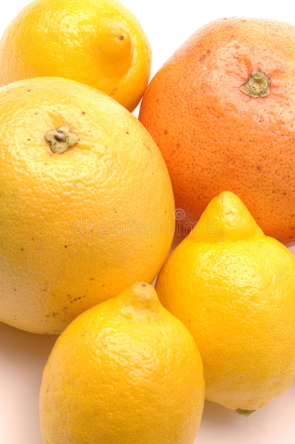 Citrons et pamplemousses image libre de droits