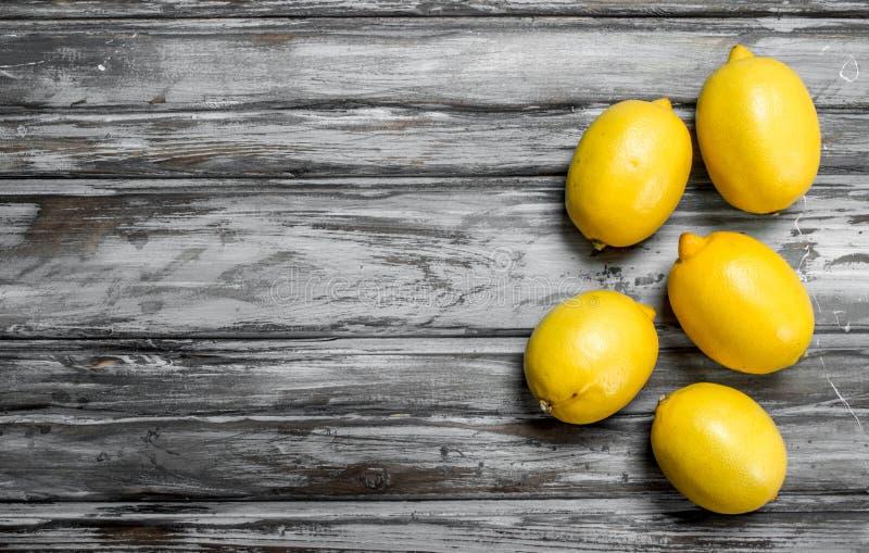 Citrons juteux frais image stock