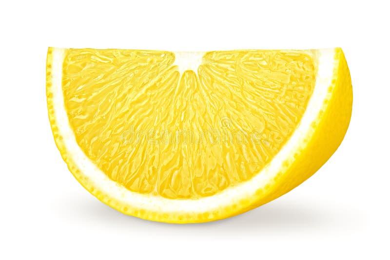 Citronskiva, snabb bana, på vit bakgrund royaltyfri bild