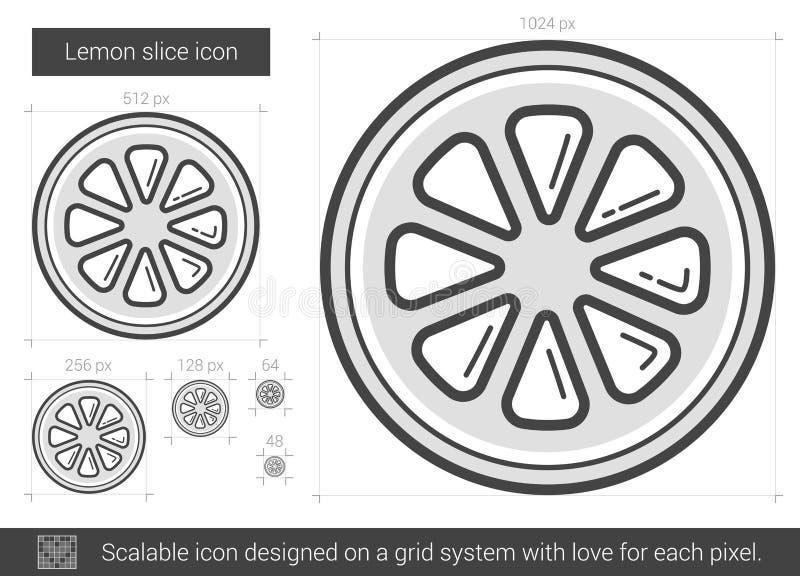 Citronskivalinje symbol vektor illustrationer
