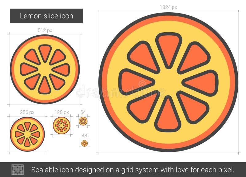 Citronskivalinje symbol stock illustrationer