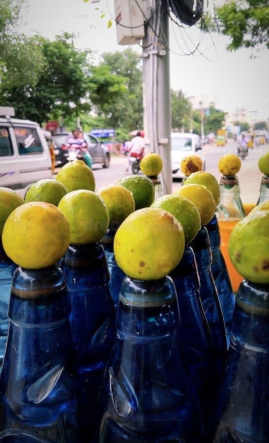 Citronsodavatten arkivfoton