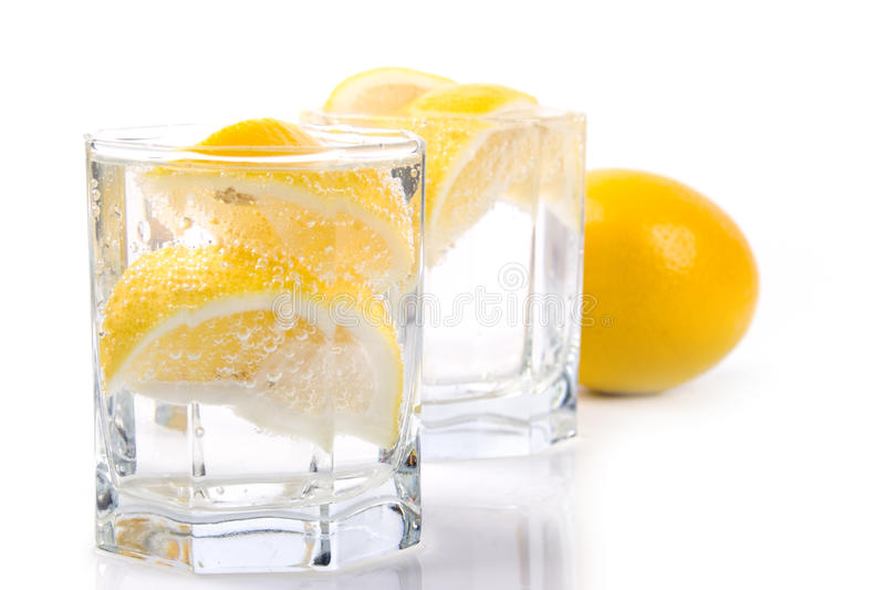 citronsodavattenvatten royaltyfri bild